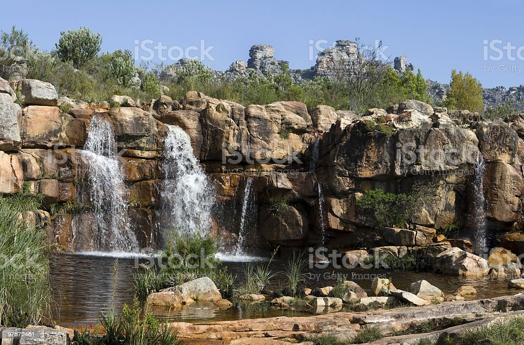 waterfall in the Cederberg Mountains royalty-free stock photo