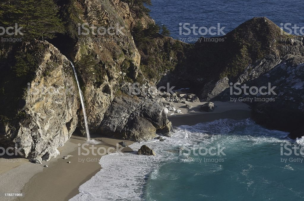 Waterfall in the Cove stock photo