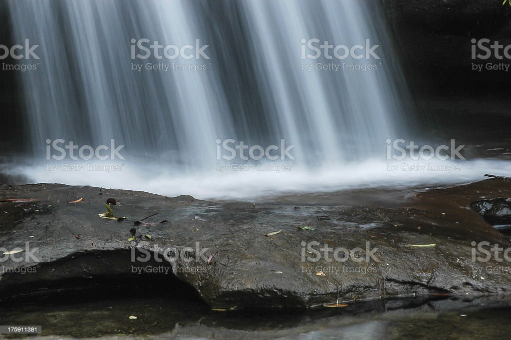 Waterfall in the forest royalty-free stock photo