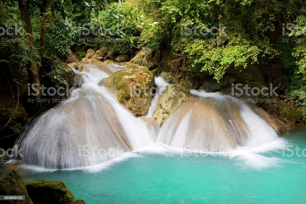 Waterfall in the Jungle stock photo