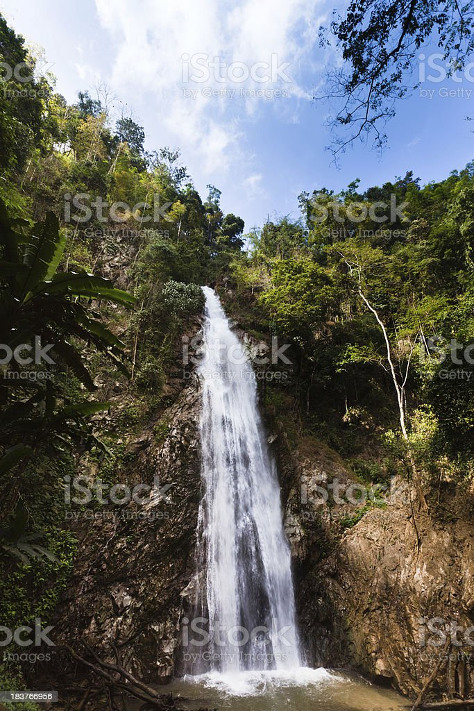 Waterfall in the North of Thailand royalty-free stock photo