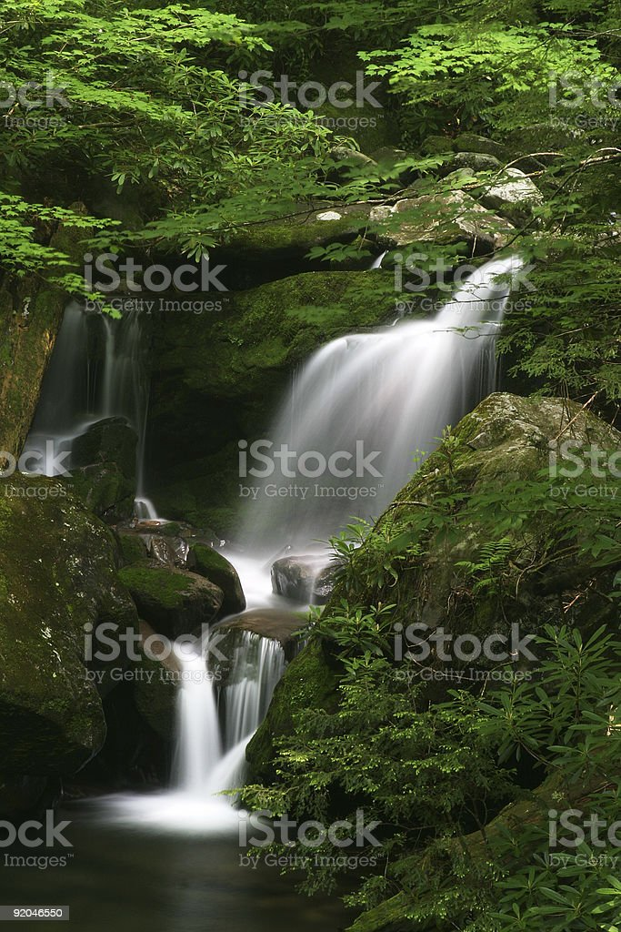 Waterfall in the Smoky Mountains royalty-free stock photo
