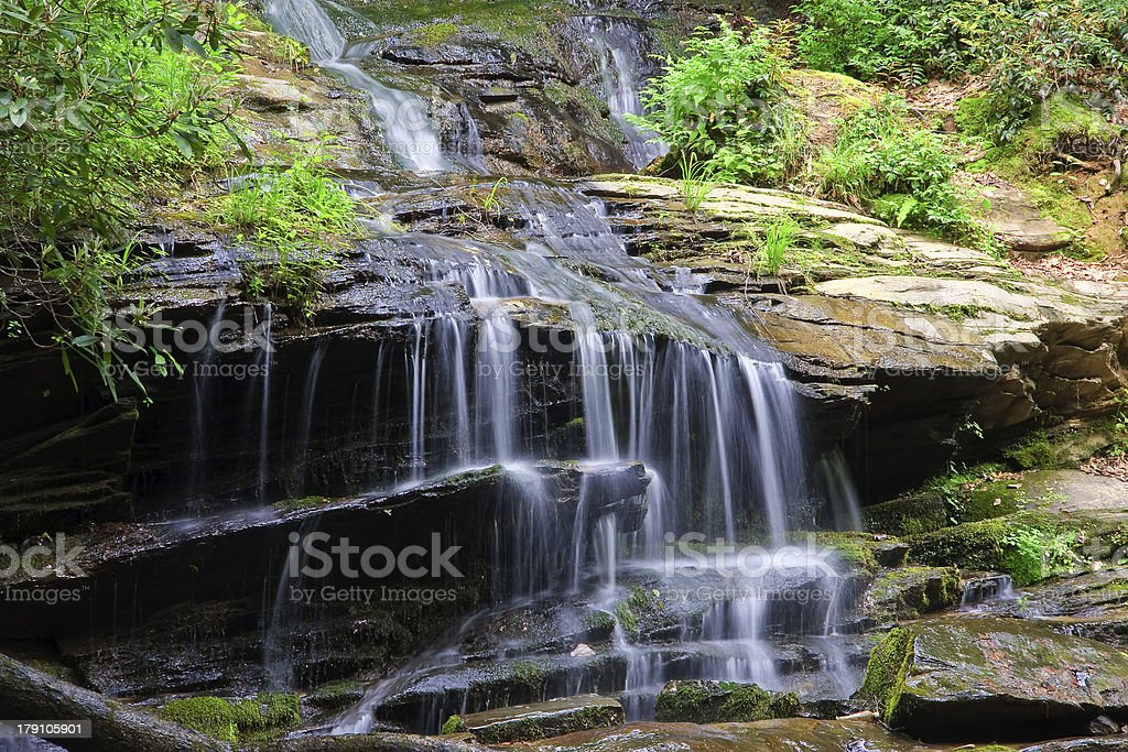 Waterfall in the Spring royalty-free stock photo
