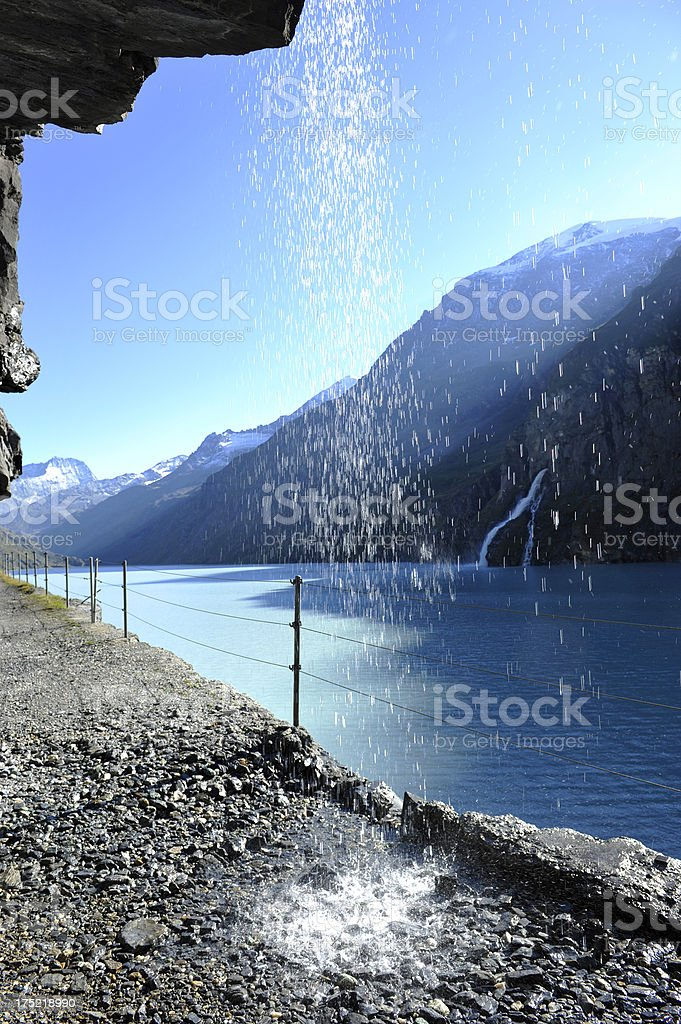 Waterfall in the Swiss Alp royalty-free stock photo