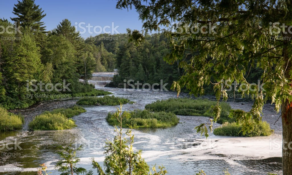 Waterfall in the Wilderness stock photo