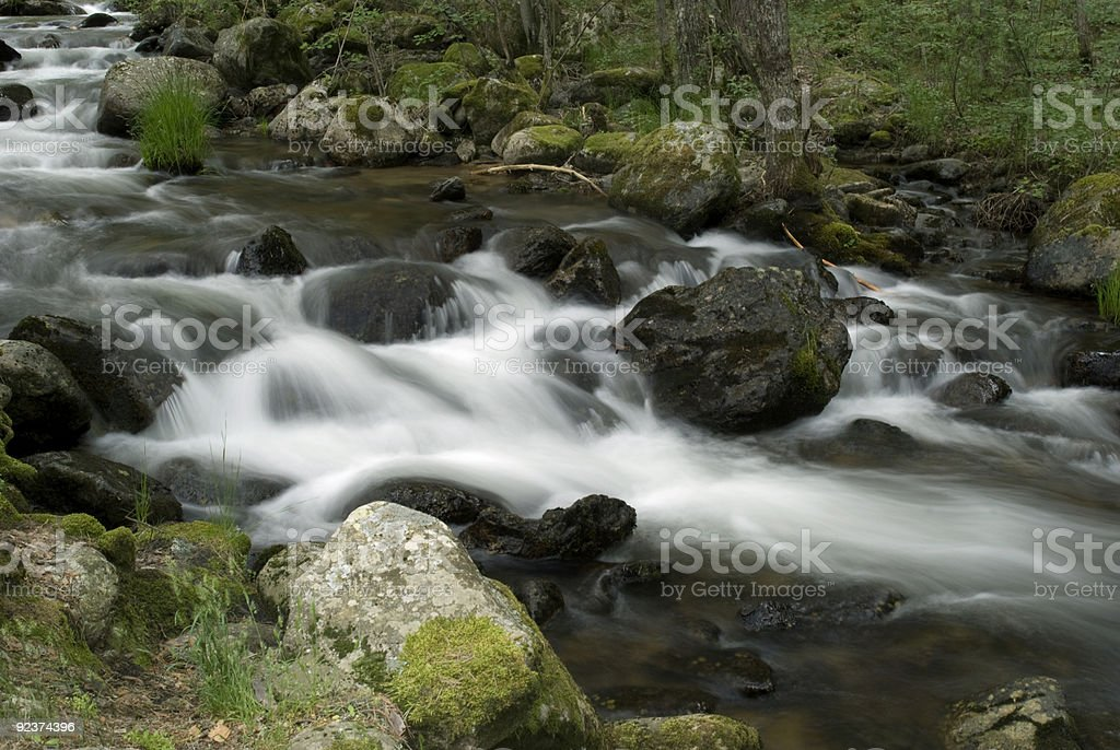 Waterfall in the Woods of Spain royalty-free stock photo