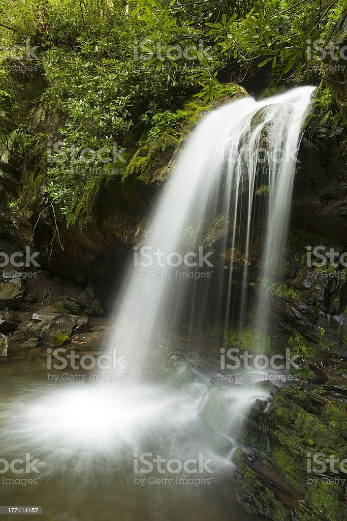 Waterfall in the Woods royalty-free stock photo