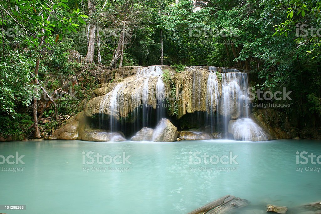 Waterfall in Tropical Forest royalty-free stock photo