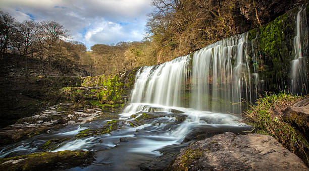 Waterfall in Wales Waterfall in Wales brecon beacons stock pictures, royalty-free photos & images