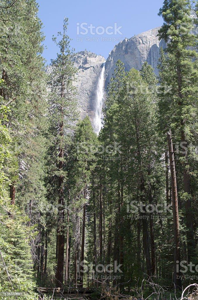 waterfall in Yosemite royalty-free stock photo