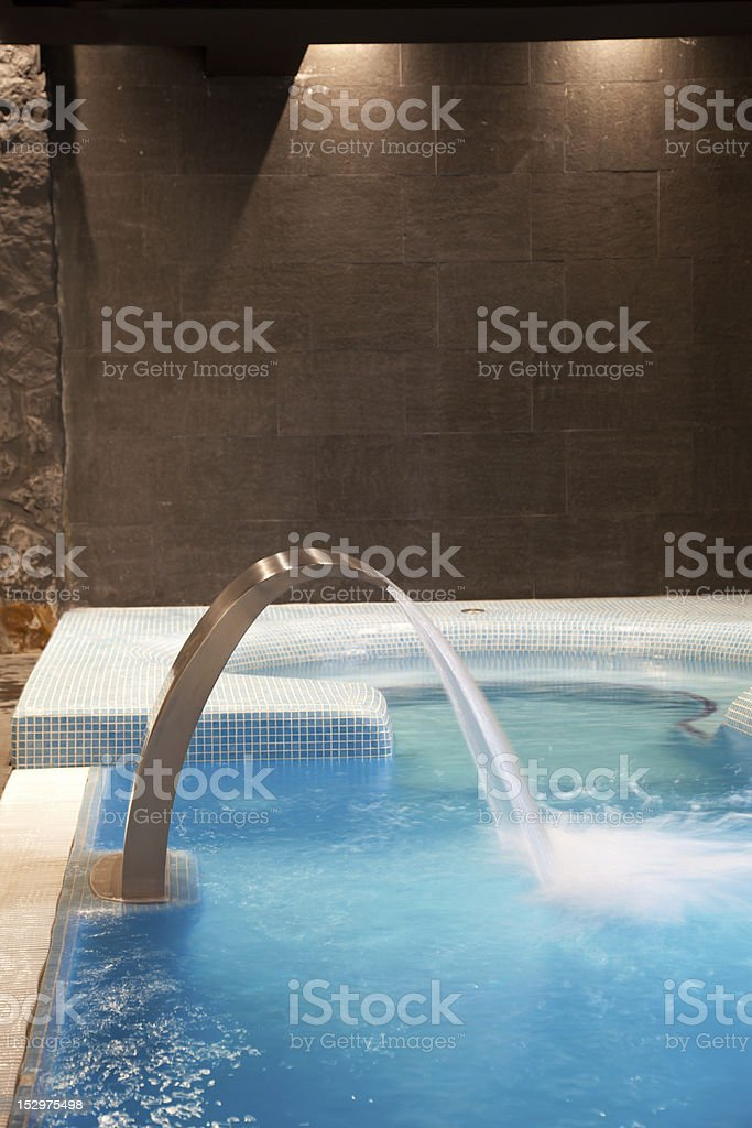 waterfall jet and jacuzzi in action royalty-free stock photo