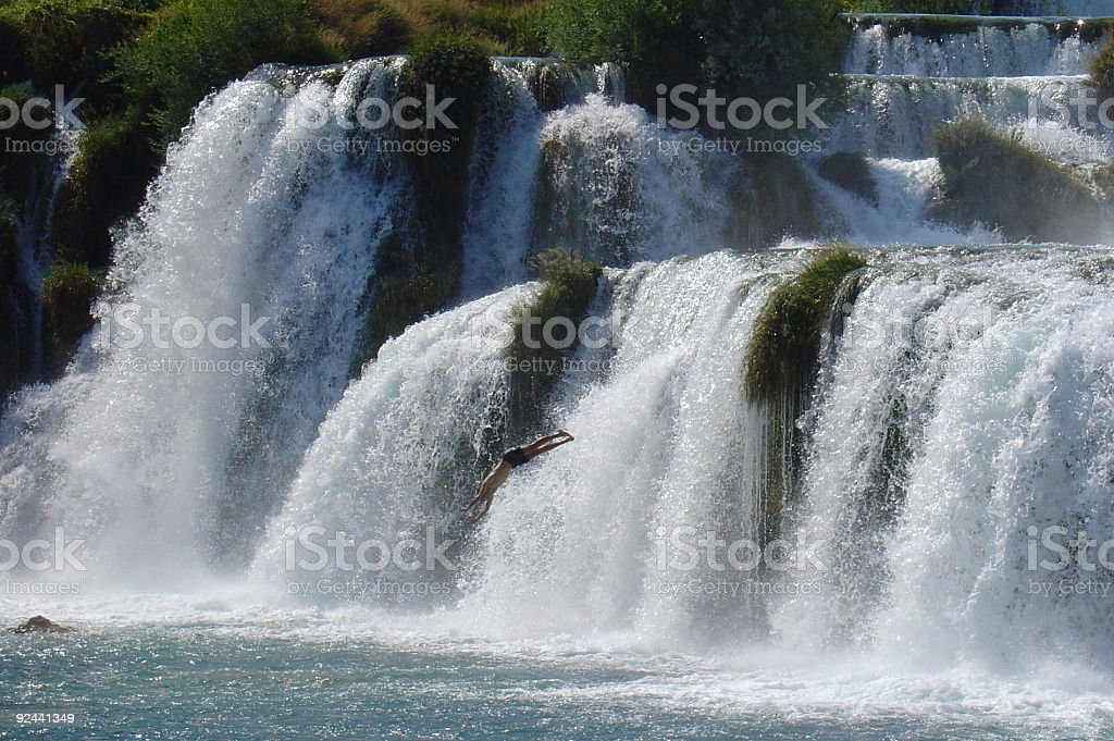 Waterfall jump royalty-free stock photo