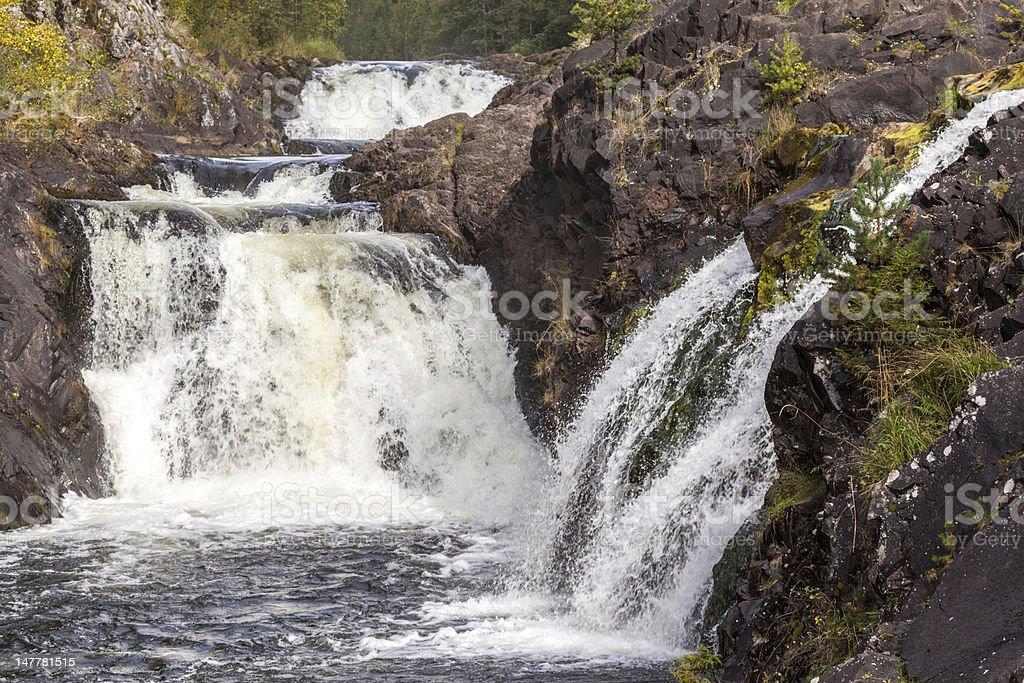 Waterfall Kivach stock photo