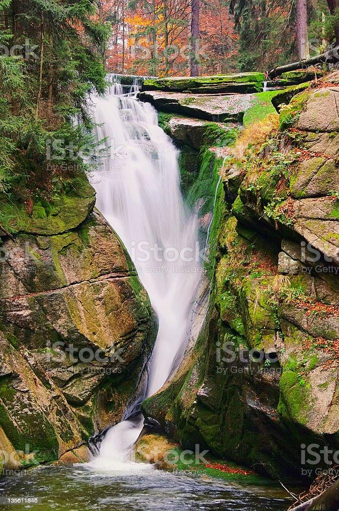 waterfall Kochel stock photo