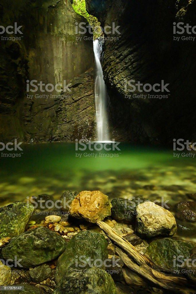 waterfall kozjak stock photo