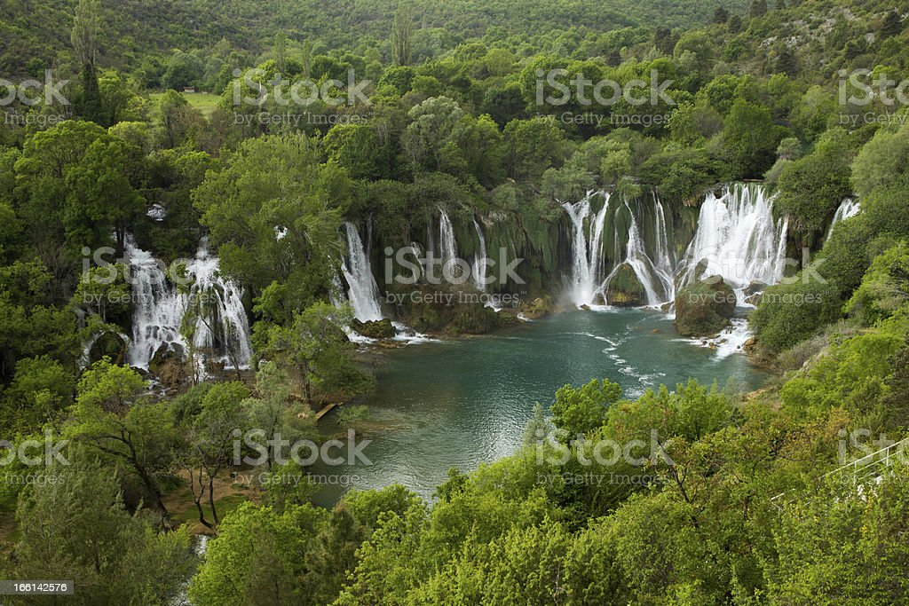 Waterfall Kravice in Bosnia and Herzegovina royalty-free stock photo