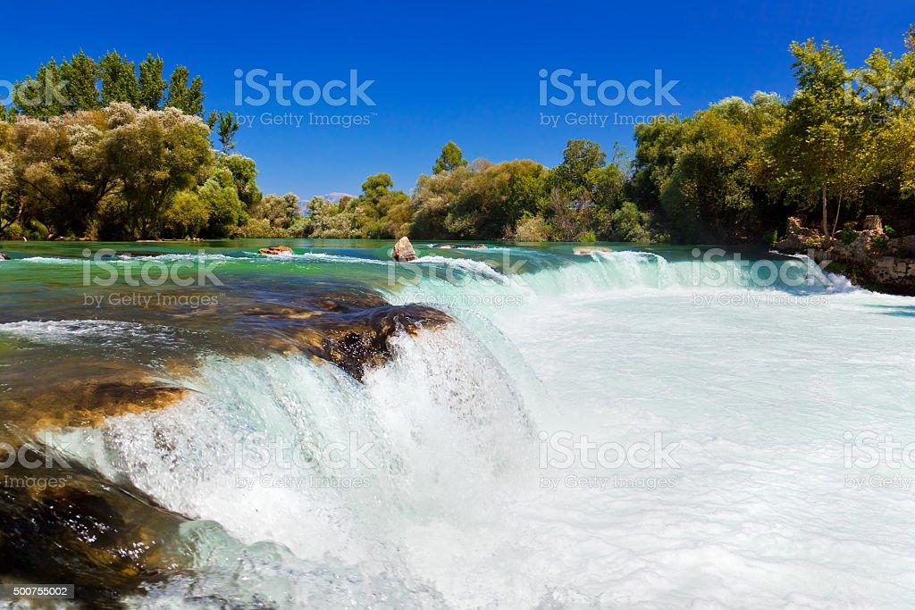 Waterfall Manavgat at Turkey stock photo
