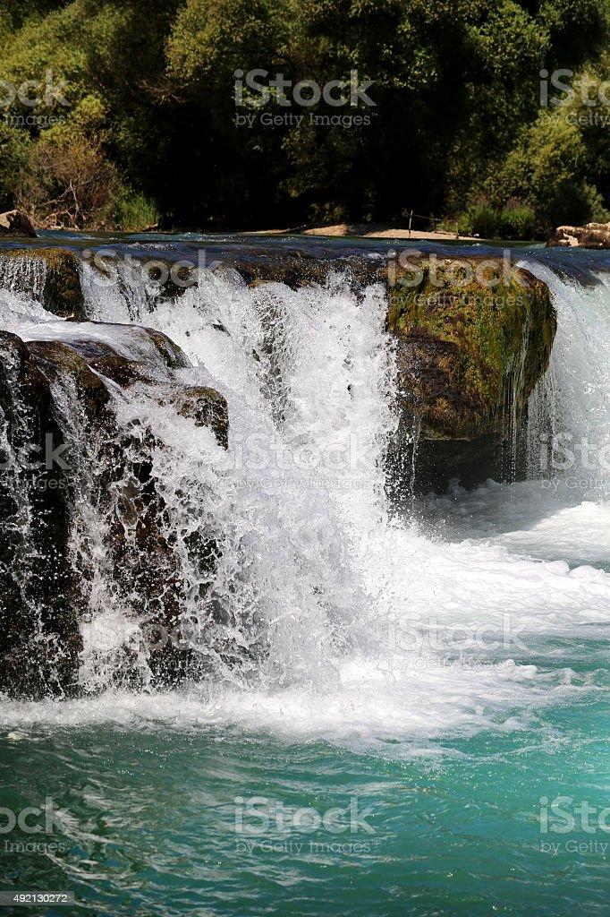 waterfall Manavgat in Turkey stock photo