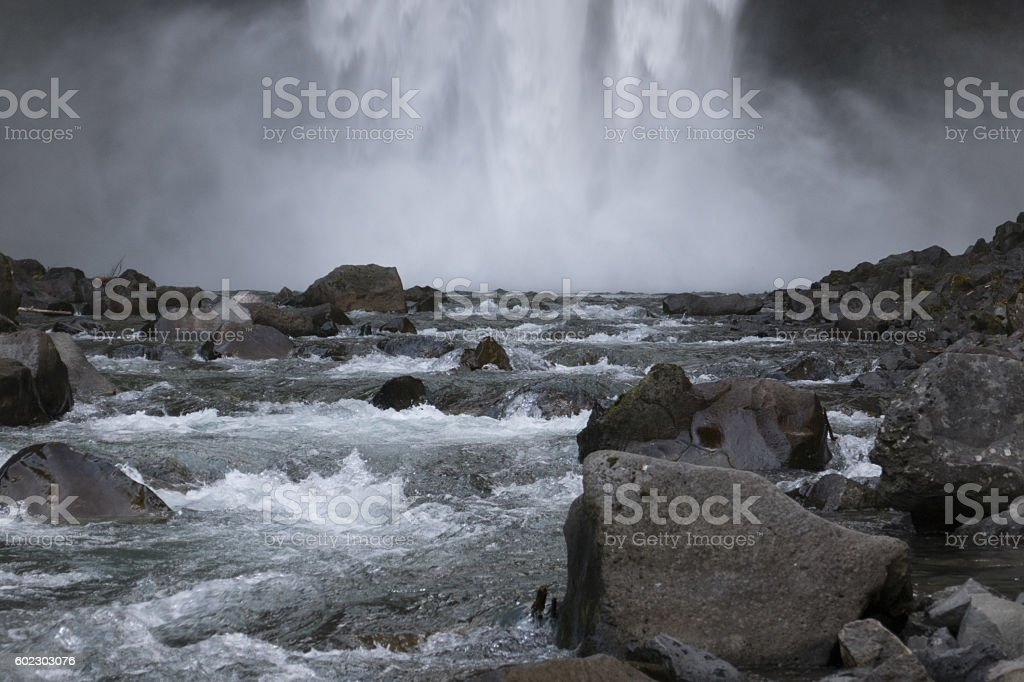 Waterfall Mist stock photo