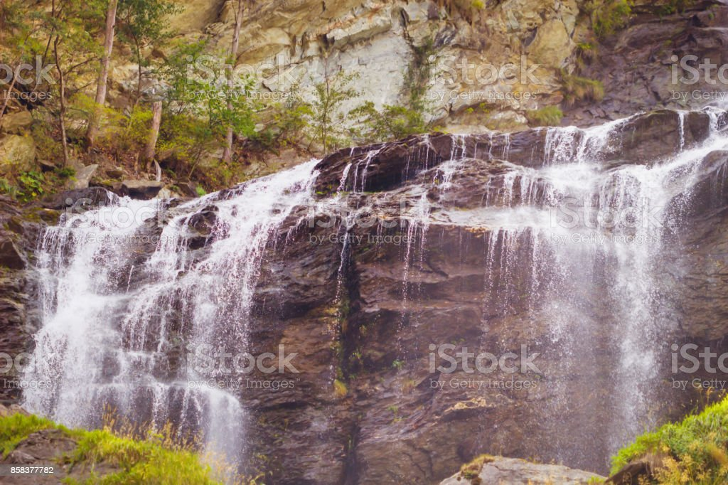 Waterfall mountain landscape, Waterfalls in the jungle in natural...