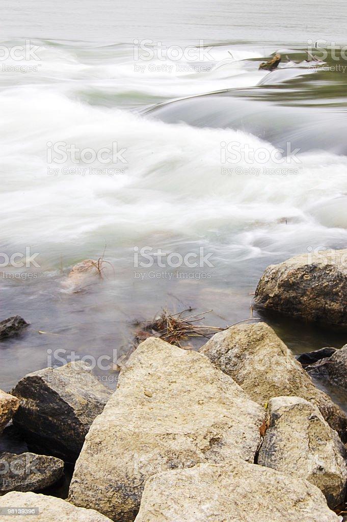 Waterfall movement royalty-free stock photo