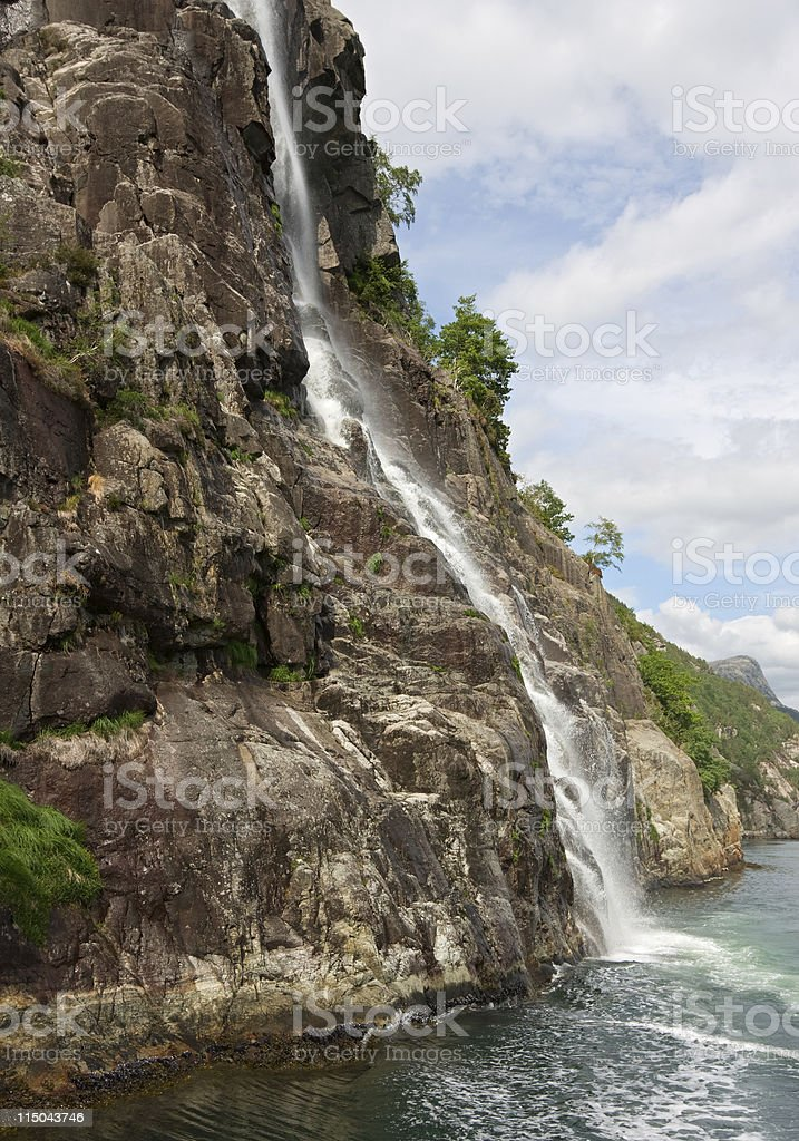 Waterfall, Norway royalty-free stock photo