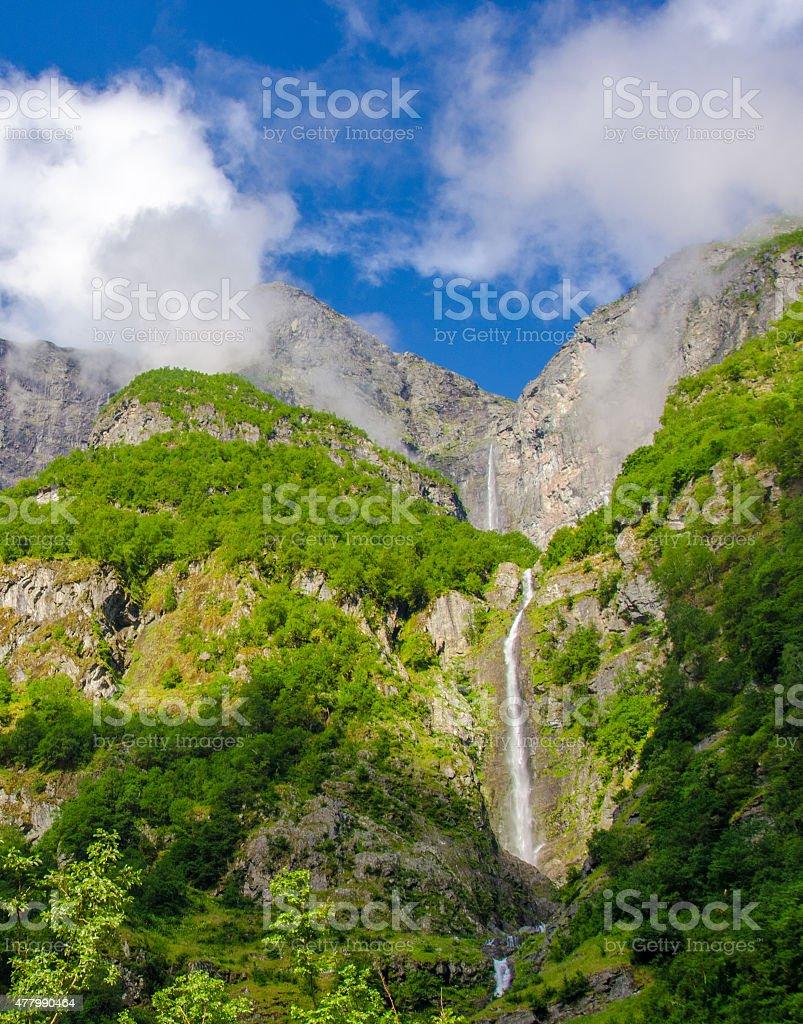 Waterfall Norway stock photo