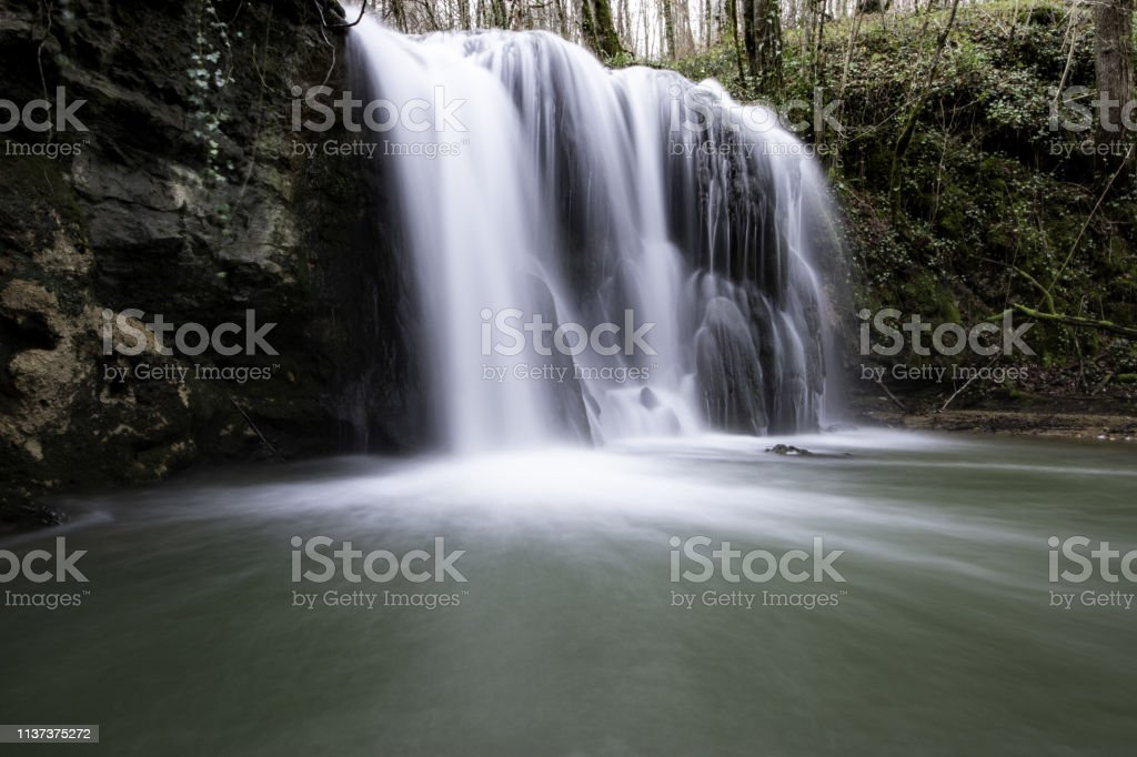 Waterfall of Altube stock photo