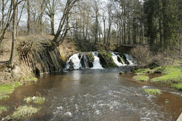 Waterfall of Blangy in Picardie, France Waterfall of Blangy in Aisne, Picardie in north of France aisne stock pictures, royalty-free photos & images