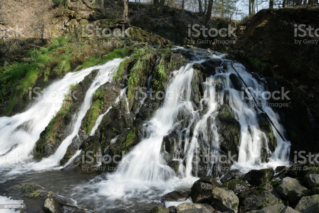 Waterfall of Blangy in Picardie, France photo libre de droits