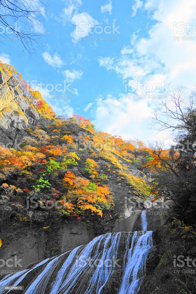 Cascada de Hukurodanotaki daigo ciudad de Ibaraki-japón - foto de stock