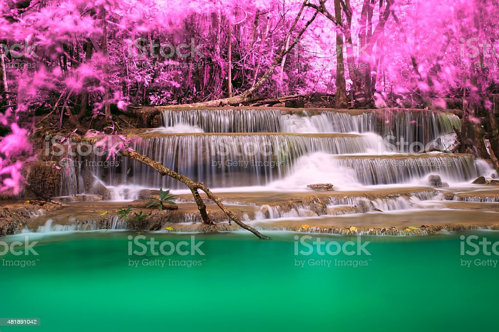 Waterfall of nature stock photo