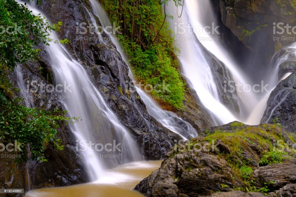 waterfall of Thailand stock photo