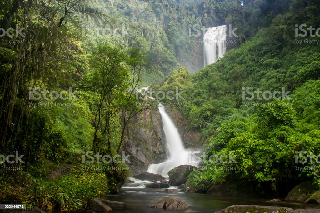 Waterfall of the Deer royalty-free stock photo
