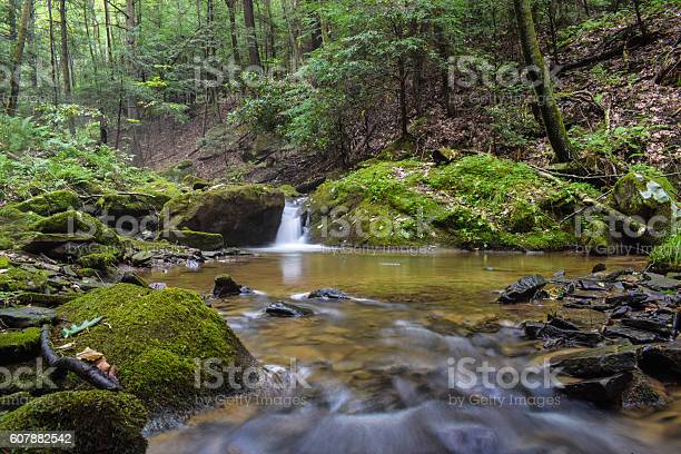 Photo of Waterfall on a Small Mountain Stream
