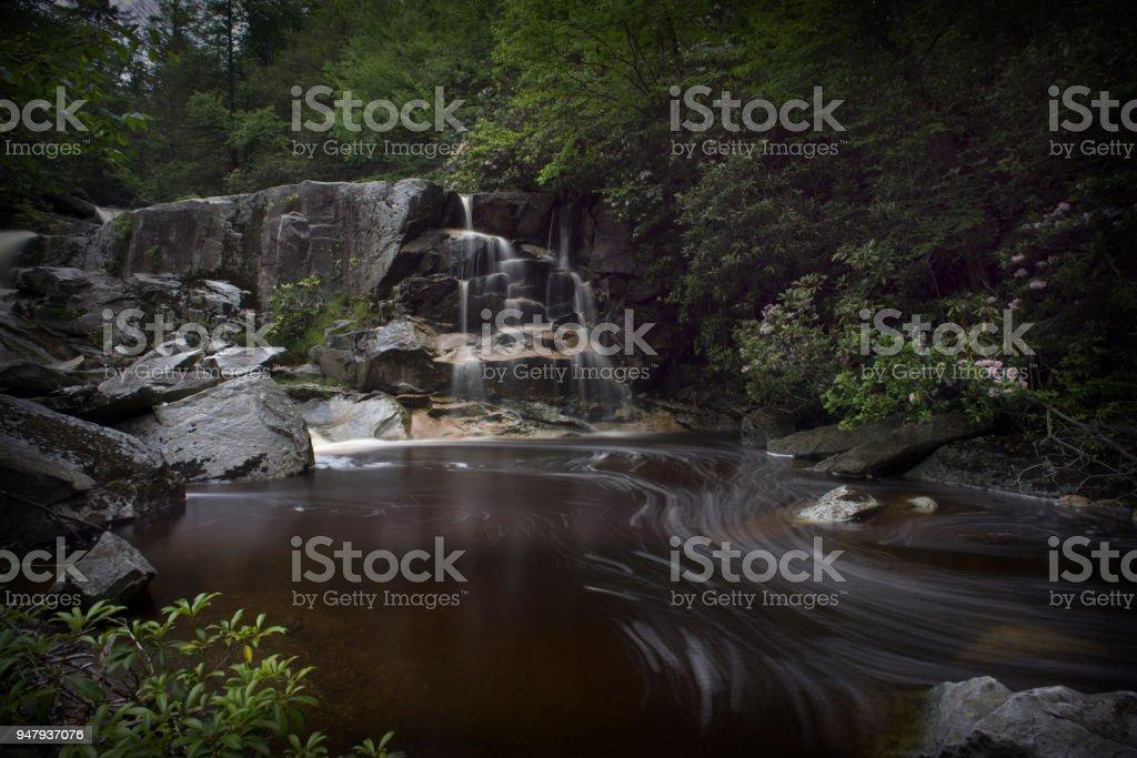 Waterfall on Big Run River stock photo