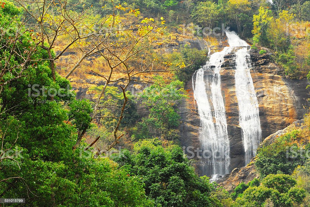 Waterfall on Doi Inthanon stock photo