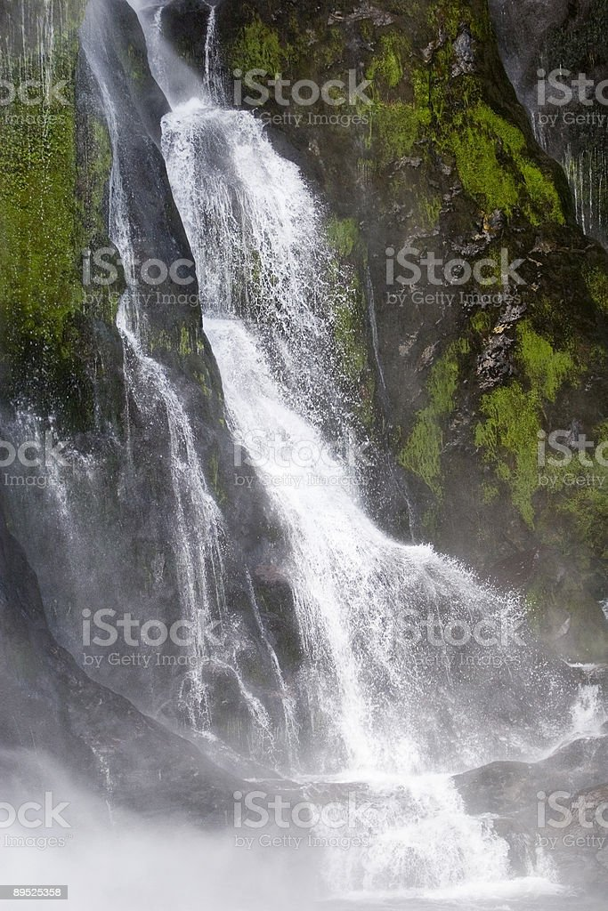 Waterfall on Milford Sound royalty-free stock photo