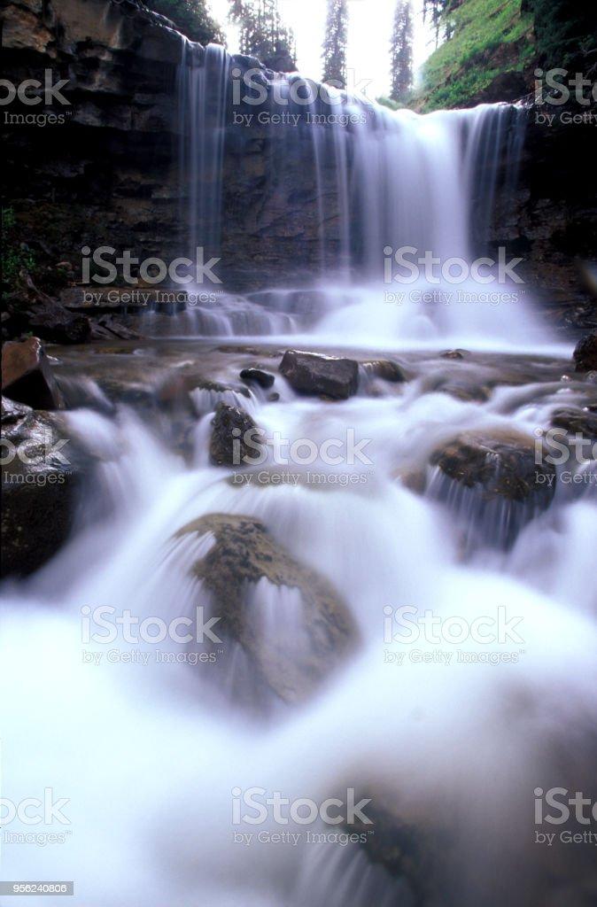 waterfall on Molas Pass stock photo