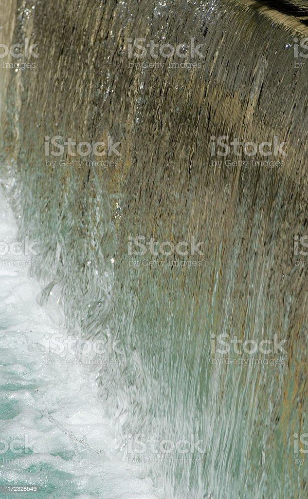 Waterfall on River Walk royalty-free stock photo