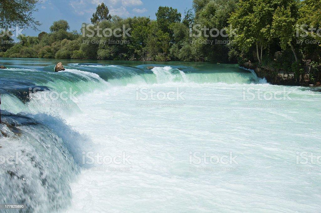 Waterfall on the river Manavgat, Turkey royalty-free stock photo