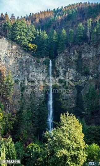 A waterfall outside of Portland.