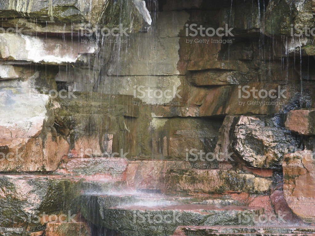 Waterfall Over Red Rocks stock photo