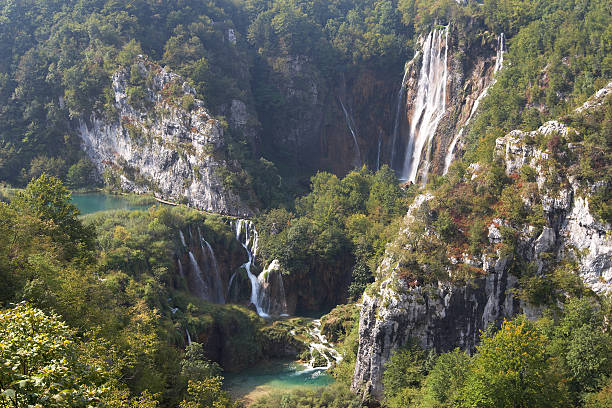 waterfall - plitvice lakes stockfoto's en -beelden