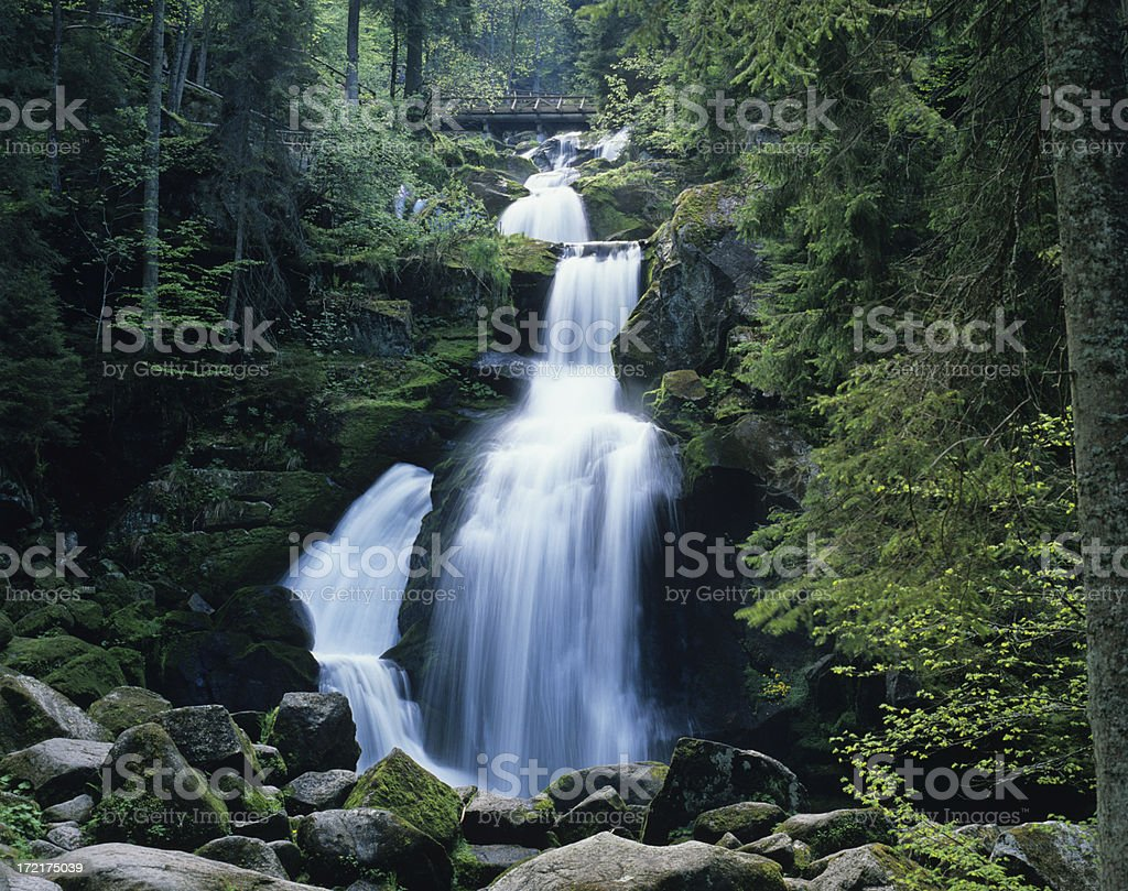 Waterfall (image size XXL) royalty-free stock photo