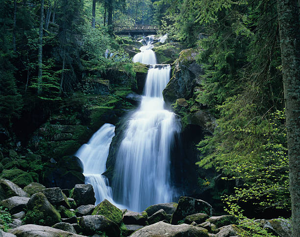 waterfall (image size xxl) - natural landmark stock pictures, royalty-free photos & images