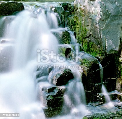 A color negative shot of  small waterfall. Has a bit of that color neg softness and also the water has a slightly different feel than the usual long exposure waterfall shots. One can only hope that somewhere out there, someone is looking for just this degree of oddness.