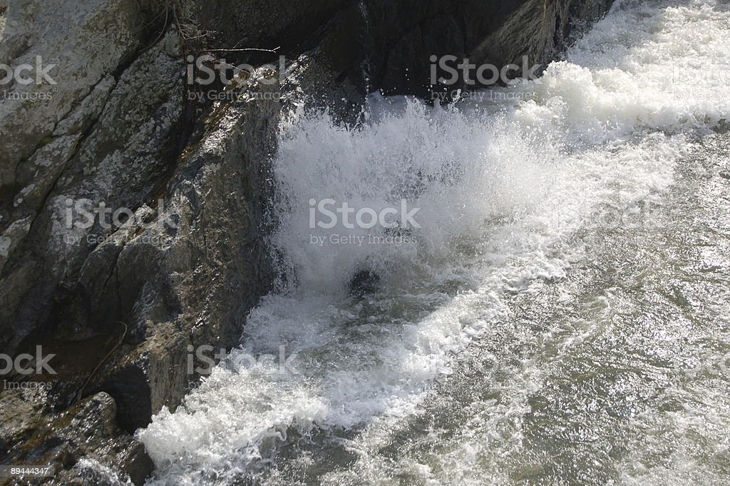 Cascade d'eau photo libre de droits