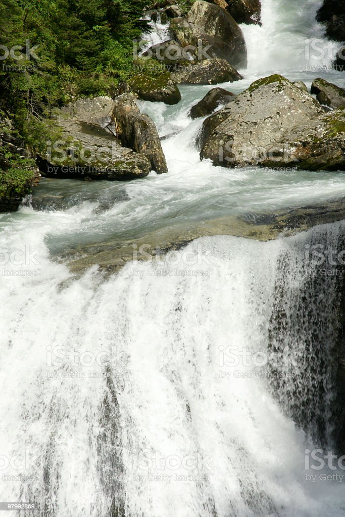Waterfall royalty free stockfoto