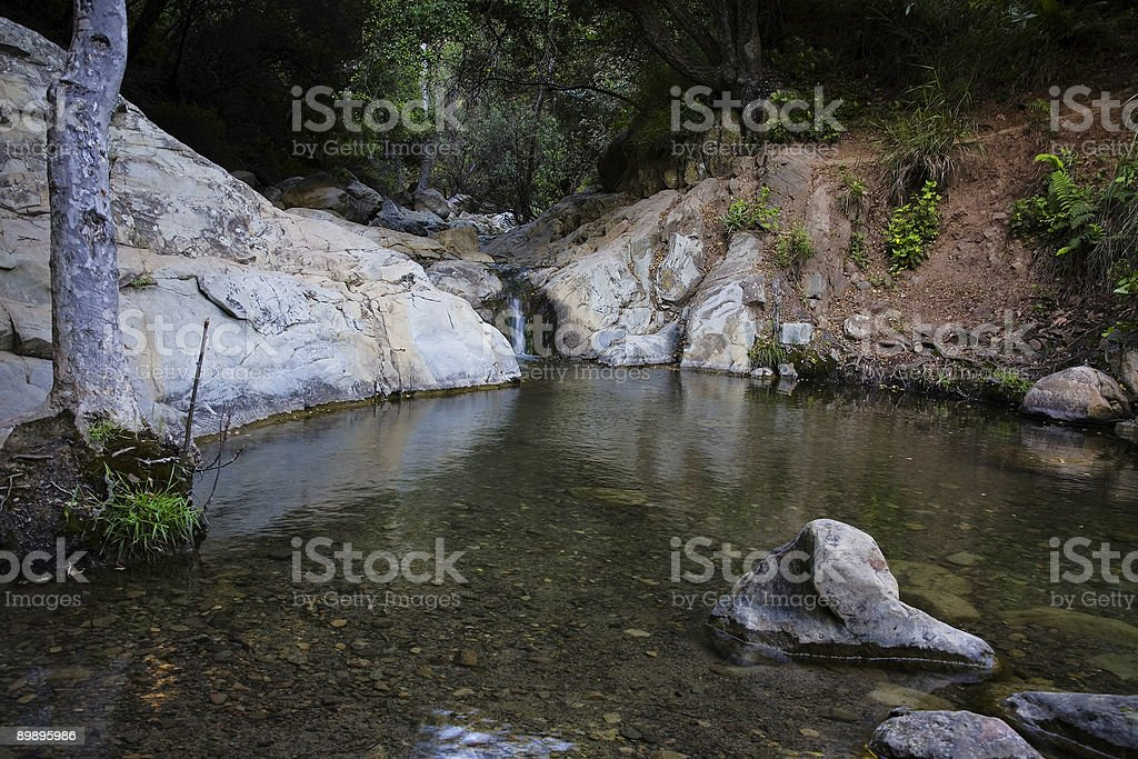 Waterfall Pond royalty-free stock photo